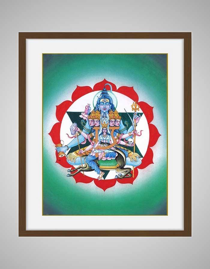 Anahata Chakra Painting - Fourth Energy Centre Or The Heart Chakra Divine - Lotus Background