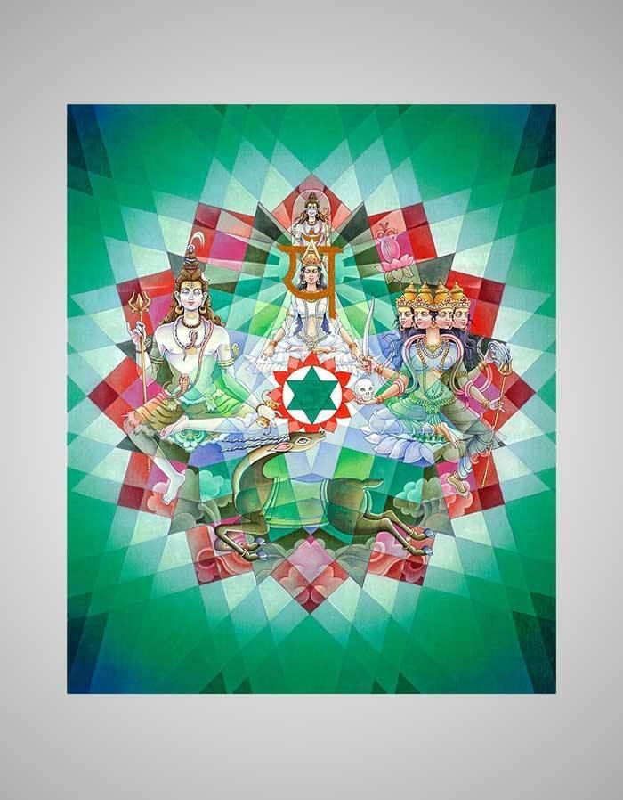 Anahata Chakra Painting - Fourth Energy Centre Or The Heart Chakra Divine