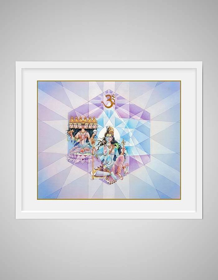 Ajna Chakra Painting - Sixth Energy Centre Or The Third Eye Chakra - Blue & Purple Background