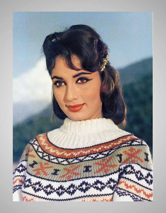 Aae Nargise Mastana girl Sadhana with bewitching eyes in film Arzoo
