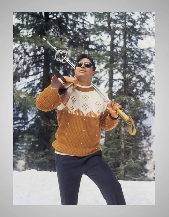 Jubilee Kumar - Rajendra Kumar as Ski Champion Sarju of Oakla Village
