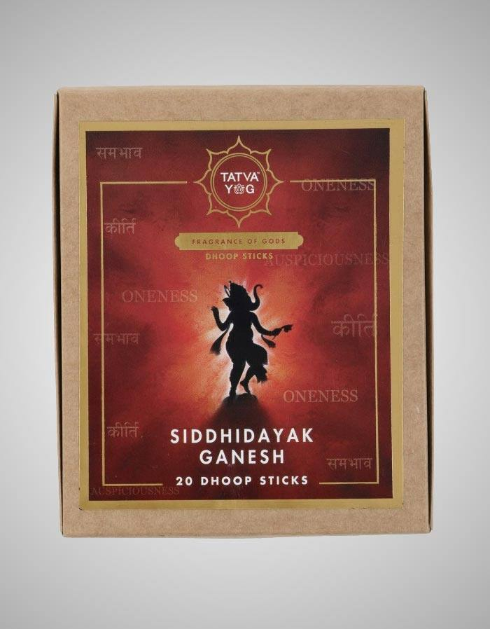 Tatvayog Siddhidayak Ganesh - Dhoop Sticks Pack - (20 Dhoop Sticks)