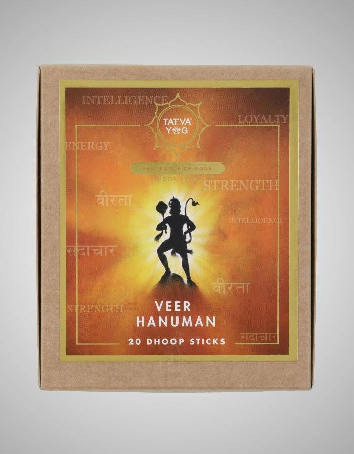 Tatvayog Veer Hanuman - Dhoop Sticks Pack - (20 Dhoop Sticks)