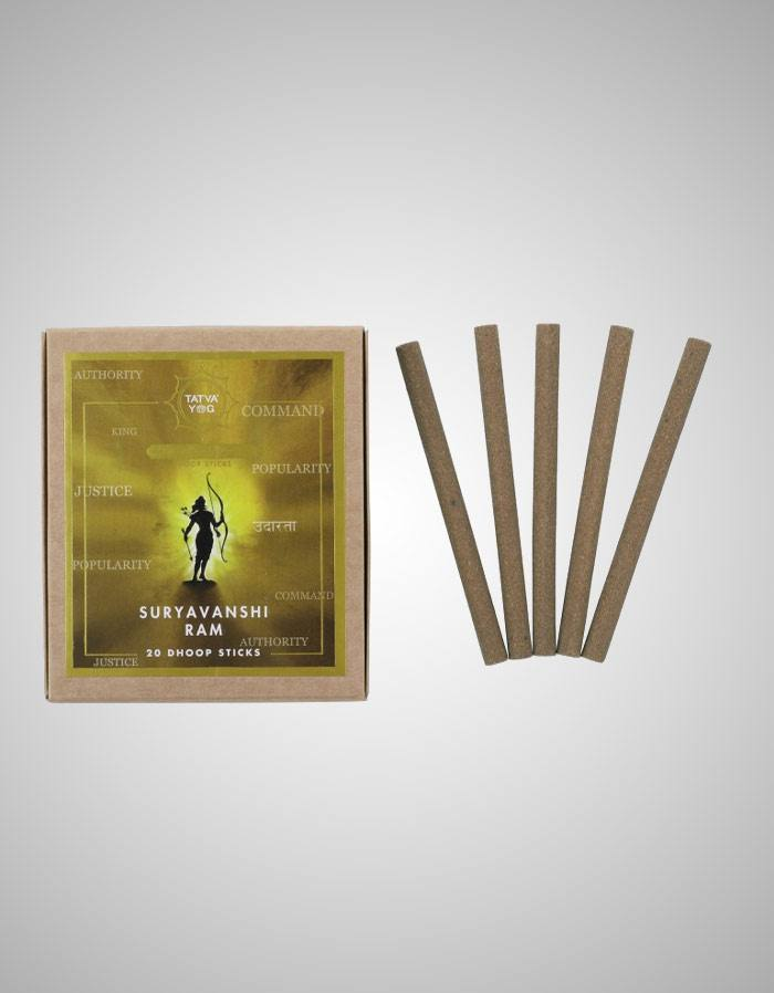 Tatvayog Suryavanshi Ram - Dhoop Sticks Pack - (20 Dhoop Sticks)
