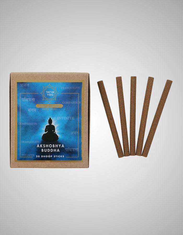 Tatvayog Akshobhya Buddha - Dhoop Sticks Pack (20 Dhoop Sticks)