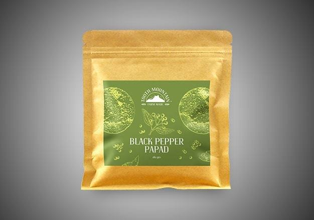 Tooth Mountain Farm Made Black Pepper Papad - 180 Gms