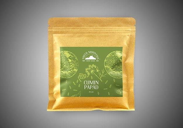 Tooth Mountain Farm Made Cumin Papad - 180 Gms
