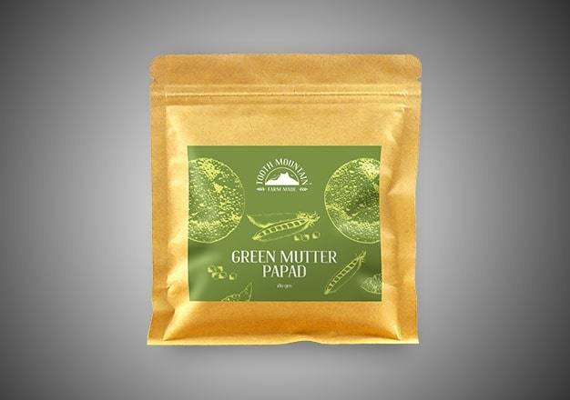 Tooth Mountain Farm Made Green Mutter Papad - 180 Gms