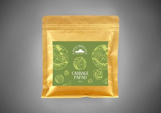 Tooth Mountain Farm Made Cabbage Papad - 180 Gms