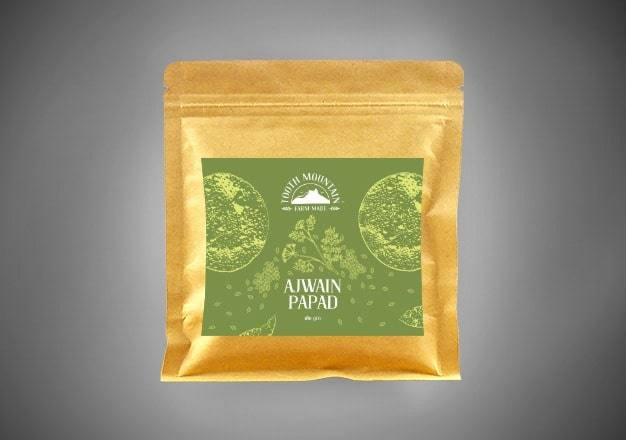 Tooth Mountain Farm Made Ajwain Papad - 180 Gms